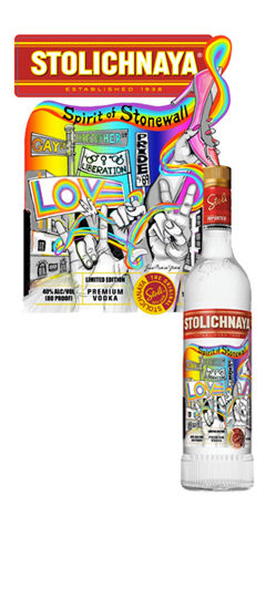 Stolichnaya Stonewall Limited Edition Label