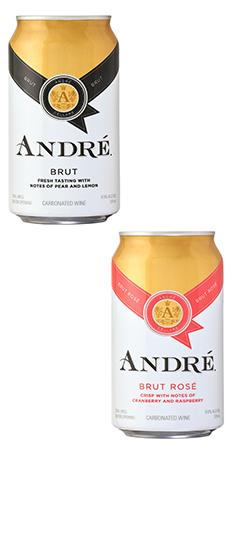 Andre Brut & Rosé Cans