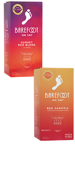 Barefoot On Tap 3L Varietals: Sangria, Sauvignon Blanc, Riesling and Red Blend