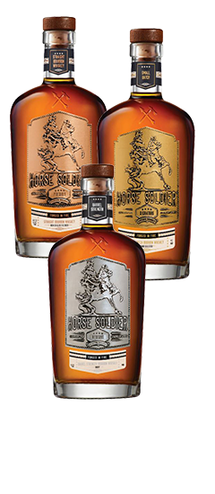 Horse Soldier Straight Bourbon Whiskey, Small Batch Bourbon Whiskey & Reserve Barrel Strength Bourbon Whiskey