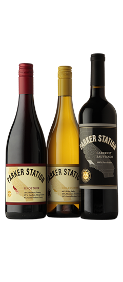 Parker Station Cabernet, Chardonnay and Pinot Noir
