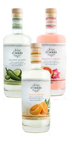 21 Cucumber Jalapeno, Valencia Orange and Grapefruit Hibiscus Tequila