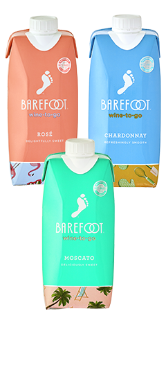Barefoot Tetra Pack Rose, Chardonnay, Moscato and Pinot Grigio