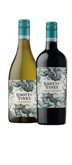 Knotty Vines Chardonnay and Cabernet