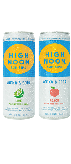 High Noon Sun Sips Lime and Peach