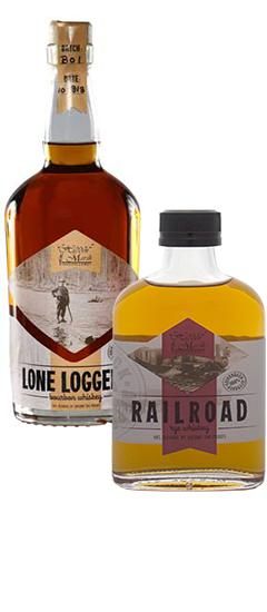 Long Logger Bourbon & Railroad rye
