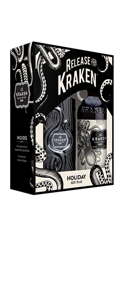 Kraken Gift Box with Tiki Glass